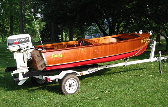 1952 Classic Dunphy Shad 14 outboard boat - 92 Johnson 25hp